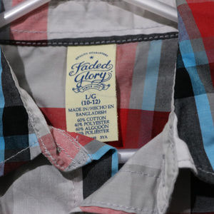 Faded Glory Shirts & Tops - Short Sleeve Button up Shirt w/ Pocket in Boys